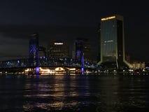 晚上在杰克逊维尔,佛罗里达 免版税库存照片