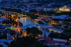 晚上在第比利斯,乔治亚 免版税库存照片
