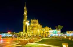 晚上在Sharm El谢赫,埃及公园  库存照片
