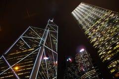 晚上场面在香港。 图库摄影
