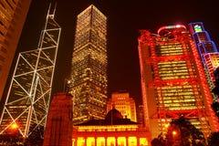 晚上场面在香港 免版税库存图片