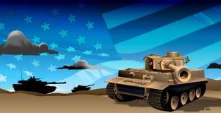 晚上坦克 皇族释放例证