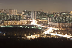 晚上城市。 免版税库存照片