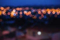 晚上城市光 免版税库存照片