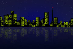晚上城市 免版税库存图片
