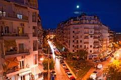 晚上城市 库存照片