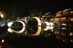 晚上城镇wuzhen 免版税图库摄影