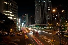 晚上大阪streen 免版税库存图片
