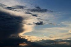晚上天空 库存图片