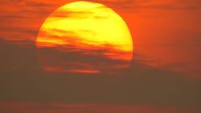 晚上太阳 免版税图库摄影