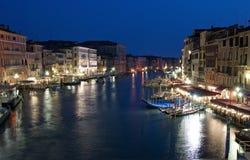晚上威尼斯 库存照片