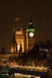 晚上宫殿威斯敏斯特 免版税库存照片