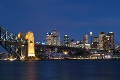晚上射击悉尼 免版税图库摄影
