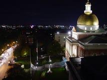 晚上州议会议场 免版税库存图片