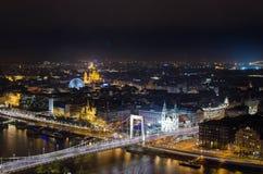 晚上布达佩斯 图库摄影