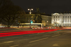 晚上彼得斯堡st 免版税库存照片