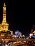 晚上拉斯维加斯的视图 免版税库存图片