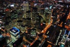 晚上摩天大楼多伦多 免版税图库摄影