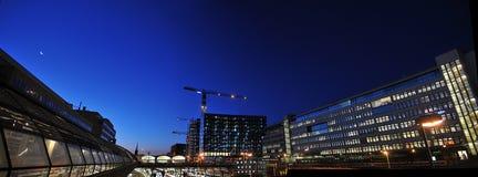晚上斯德哥尔摩 库存图片