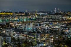 晚上斯德哥尔摩 库存照片