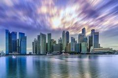 晚上新加坡地平线 免版税库存图片