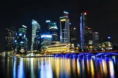晚上新加坡地平线 免版税图库摄影