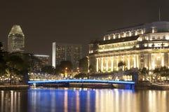 晚上新加坡视图 免版税库存照片