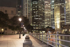 晚上新加坡 图库摄影