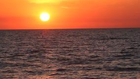 晚上日落海洋 影视素材