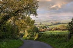 晚上时间,农村英国 免版税库存照片
