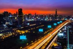 晚上曼谷 免版税图库摄影