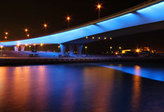 晚上桥梁 免版税库存图片