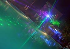 晚上池 免版税图库摄影