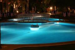 晚上池 库存照片