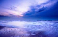 晚上海洋 库存照片