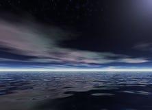 晚上海洋 免版税图库摄影