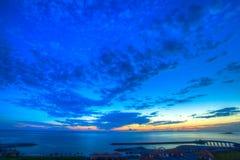 晚上海滩冲绳岛 免版税库存图片