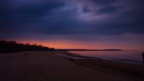 晚上海滩 库存图片