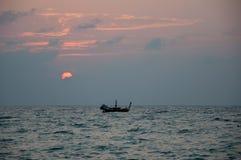 晚上渔夫 免版税库存图片