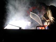 晚上焊接 库存照片