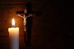 晚上祷告 库存照片