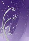 晚上紫色冬天 免版税库存图片