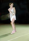 晚上网球 免版税库存图片