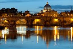 晚上罗马 库存照片