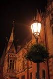 晚上老城镇 图库摄影