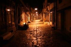 晚上老街道 库存图片