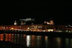 晚上萨尔茨堡 库存图片