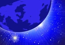 晚上行星天空 向量例证