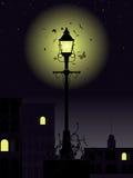 晚上街灯时间 免版税库存照片