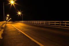 晚上街道。 免版税库存照片